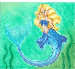 Carly as a mermaid by Oceanisuna