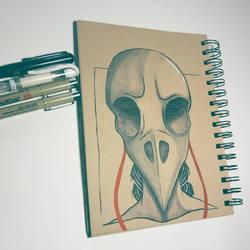 Raven Skull  by Oceanisuna