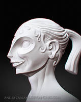 The Lady Sculpture by 7amze