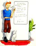 Tintin - Pensant by zalazny