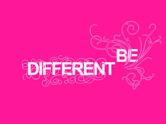 Be Different by munchester2cool