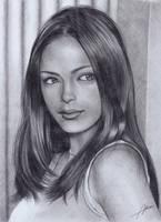 Kristin Kreuk Pencil drawing by Abremson