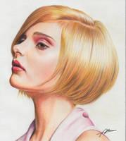 Blonde short hair by Abremson