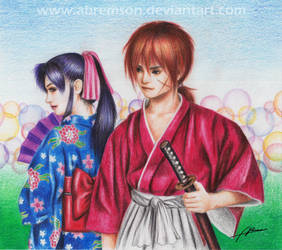 Contest Entry (Kenshin and Kaoru) by Abremson