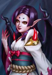 Vampira (Onmyoji Fan art Contest entry) by Abremson