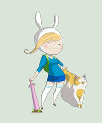 Fionna the Human by DouggieDoo