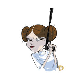 R.I.P. - Carrie Fisher by DouggieDoo