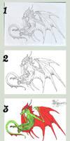 wip of Sky Dragon by Laynas