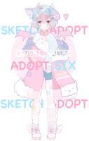 CLOSED - Sketch Adopt 6 - by lunarlunalune