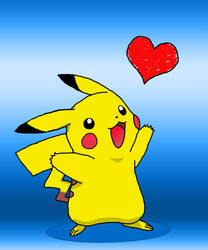 Pikachu in Love by kox9sxe