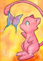 Mew meets Butterfly by Yenni-Vu