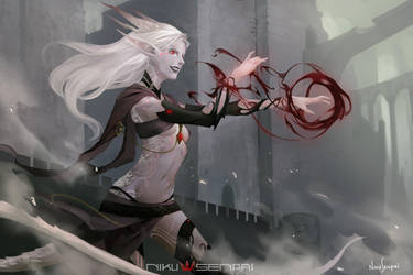 Junidth - Draconic Elf Sorceress by NikuSenpai