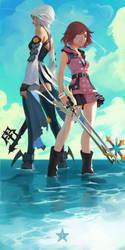 Kairi and Aqua by NikuSenpai
