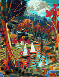 Sailing the forest by VincentBisschop
