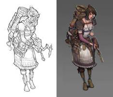 Teresa Peregrini Character Design by Veritas93