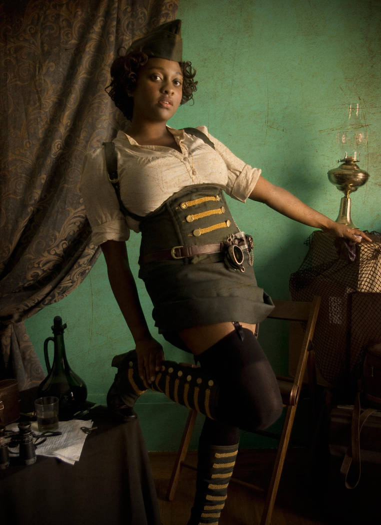 Steampunk - Pin-up 1 by blackbettie