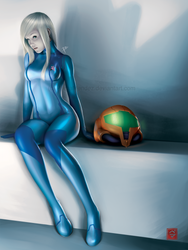 Samus Aran - Zero Suit by PemaMendez