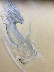 Wyvern- Silver WIp by Scarlet-wish