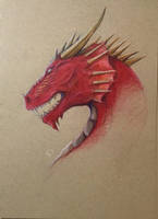 Dragon- Red by Scarlet-wish