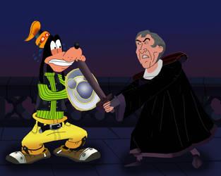 Goofy vs Frollo by AndrewSS23
