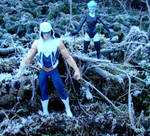 Captain Cold and Killer Frost Diorama by skphile