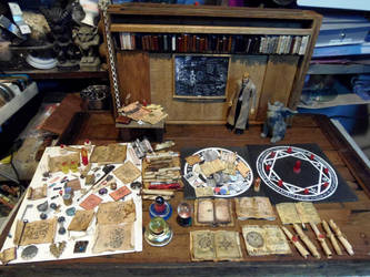 John Constantine Diorama Props Collection by skphile