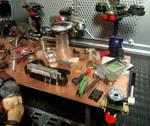 Shadowrun Diorama: Drone Workshop Tools by skphile