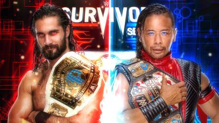 Rollins vs Nakamura Wallpaper Survivor Series 2018 by LastBreathGFX