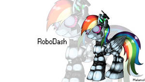 RoboDash (Wallpaper) by malamol