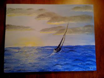 Sunrise Sail by lrdcampbel