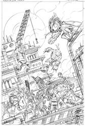 TMNT New animated adventures book #17 cover pencil by DarioBrizuelaArtwork