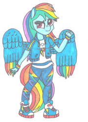 Anthro Rainbow Dash by ThePegasusEffect