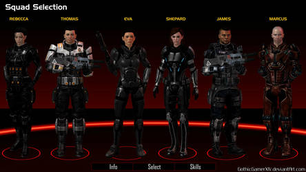 Mass Effect: Harbinger (squad selection) by GothicGamerXIV