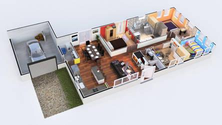 3D Floor Plan by antodes