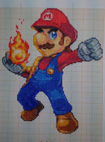 Pixel art Super smash bros: Mario by PaintPixelArt