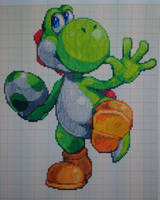 Pixel art Super smash bros: Yoshi by PaintPixelArt