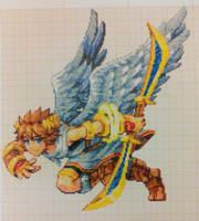 Pixel art Super smash bros: Pit by PaintPixelArt