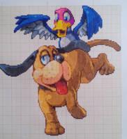 Pixel art Super smash bros: Duck Hunt by PaintPixelArt