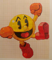 Pixel art Super smash bros: Pac-man by PaintPixelArt