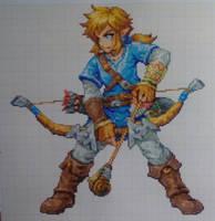 Pixel art: Breath of the Wild Link by PaintPixelArt