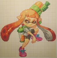 Pixel art Super Smash Bros: Inkling by PaintPixelArt