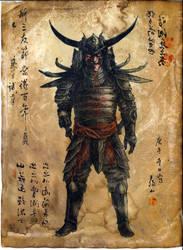 Samurai War Demon by WendigoMoon
