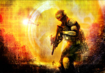 Future Operations Soldier - Color by WendigoMoon