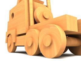 mi camion de madera by defkoul