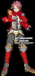 Natsu Dragneel in Dragon Brawler Armor by CheyzerrBondoc