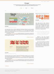 Orange Blog Template Free PSD by ahmadhania