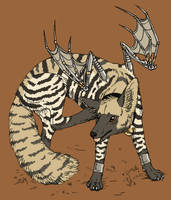 striped hyena coyote by gescheitert