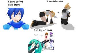 my first 4 days before school by MMDbeginner