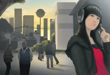 Headphone Girl by Dye-EvolveII