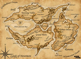 Map of Nevermore by SozokuReed